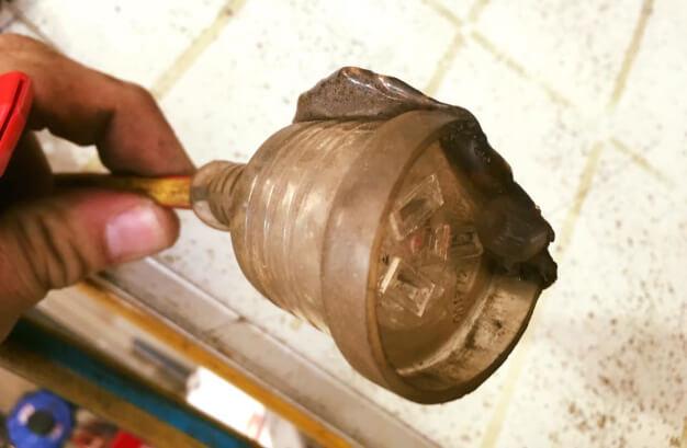 Melted Plug Fire Hazard